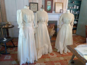 Three wedding gowns